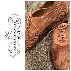 Anthropologie corduroy Oxford loafers